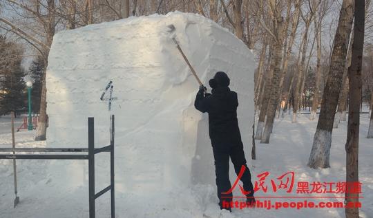 第十四届黑龙江省雪雕比赛12月16日在太阳岛开铲