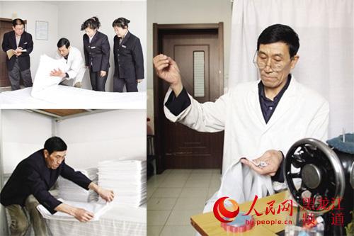 哈尔滨生活段哈东公寓服务员王世君再过几个月就满60周岁,即将退休
