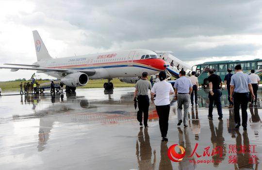 黑河—哈尔滨—上海往返航线开通