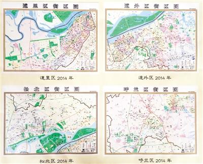 """哈尔滨市8城区有""""双料地图"""""""