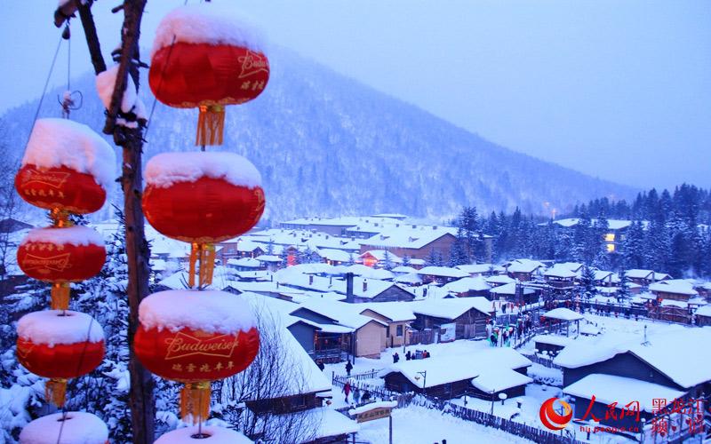 """图说龙江:冰雪生态旅游型新农村树起""""雪乡""""新名片【5】"""