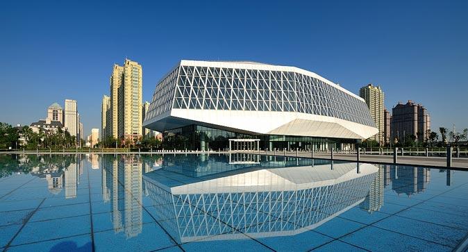音乐之城的韵律 哈尔滨音乐厅广场