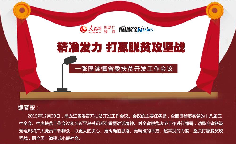 一张图读懂黑龙江省委扶贫开发工作会议