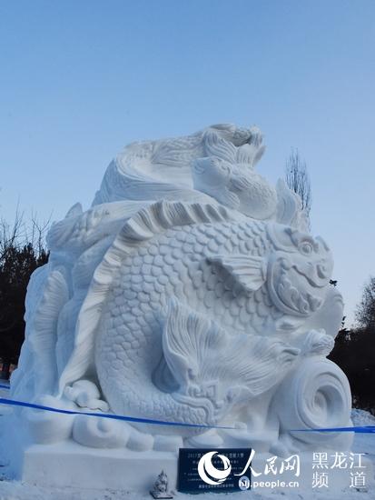 雪雕设计手绘图