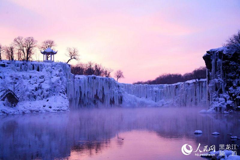 2017中国·镜泊湖冬季旅游产品推介会在哈尔滨举行.镜泊湖旅游集