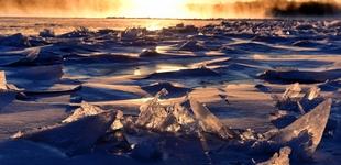 黑龙江呼玛界江冰封景色美
