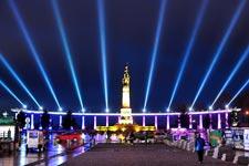 哈尔滨防洪纪念塔灯光秀