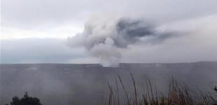 夏威夷基拉韦火山喷出火山灰