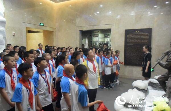 """东北烈士纪念馆举行""""铁血抗联・赤胆童心""""原创诗歌朗诵会"""