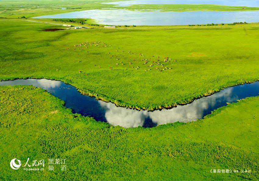 《草原牧歌》吴永江 摄