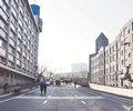 哈尔滨地段街标线施划完毕        紧邻哈尔滨霁虹桥的地段街已经划好道路标线,哈站北广场地下停车场出口已建设...
