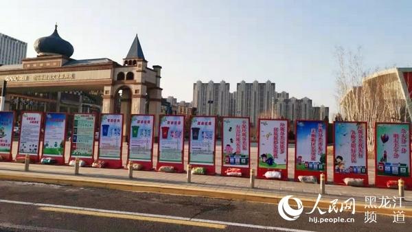 哈尔滨新区集中组织开展学雷锋志愿服务公益宣传活动