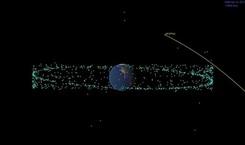 """一�w巨型小行星�㈧�2029年�w掠地球根��美��宇航局(NASA)公布的最新���,一�w直�郊s335米的巨型小行星""""死神星"""",�㈧�2029年�c地球擦身而�^。��悉,人����r�⒖赡芡ㄟ^肉眼�到天空中的光�c,��^�c""""死神星""""的距�x。【��】社��政法�蛏����D"""