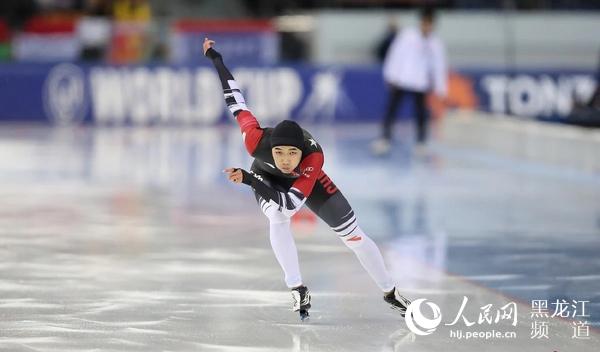 黑龙江选手高亭宇获得速滑世界杯