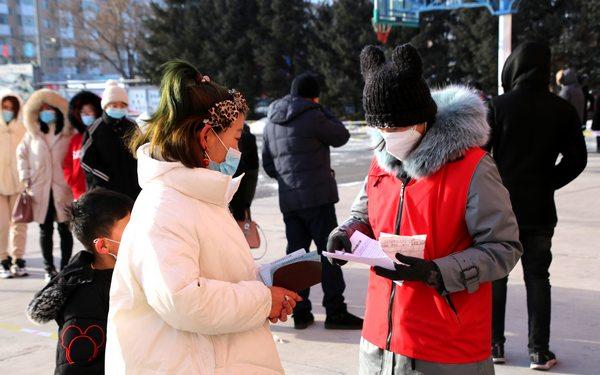 甘南县千余名志愿者支援核酸检测