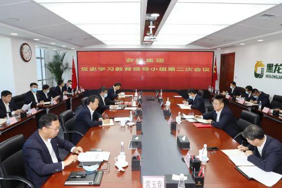黑龙江省农投集团召开党史学习教育领导小组第二次会议